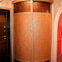 Радиусный шкаф Аризона. Радиусные шкафы купе под заказ Петропавловск !#кожа #прихожие #cittadella