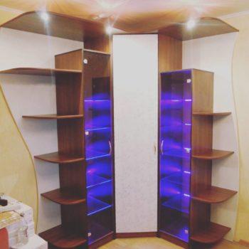Угловые шкафы с подсветкой #петропавловск #мебельпетропавловскподзаказ