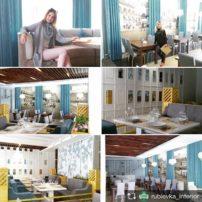 кафе Бульвар. Второй этаж выполнен по нашему проекту. @cittadella.mebel за прекрасную мебель, мягкие яркие диваны, стеллажи выполненые по авторским эскизам
