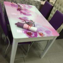 Бело-розовый раскладной столик Канзас-Сити в Петропавловске