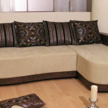 Бежево-коричневый угловой диван Теннесси в Петропавловске