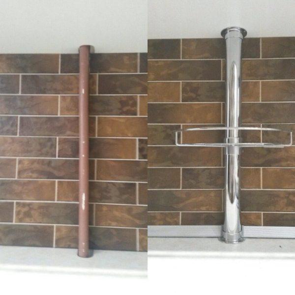 Декор газовой трубы на кухне в Петропавловске