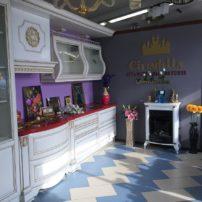 Белая кухня с вставками золотого цвета Белый шедевр в Петропавловске