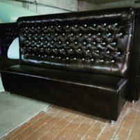 Чёрный диван в каретной стяжке Талса в Петропавловске