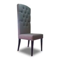 Серый с фиолетовым отливом стул с высокой спинкой Sonata-Pro Russell в Петропавловске
