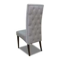 Серый стул с высокой спинкой Sonata-Pro Kristin Button в Петропавловске