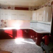 #кухонный гарнитур#краснаякухня#угловая кухня#петропавловск