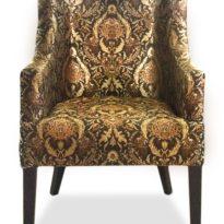 Коричнево-жёлтое кресло Giuseppe classic в Петропавловске вид прямо