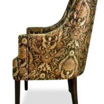 Коричнево-жёлтое кресло Giuseppe classic в Петропавловске вид сбоку