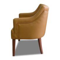 Коричневое кресло Sonata-Pro Giuseppe в Петропавловске вид сбоку