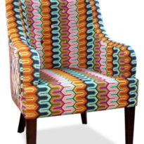 Разноцветное в полоску кресло Giuseppe classic в Петропавловске