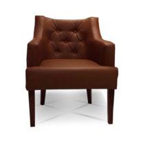 Тёмно-коричневое кресло Sonata-Pro Giuseppe в Петропавловске вид прямо