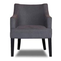 Тёмно-серое кресло Sonata-Pro Giuseppe right в Петропавловске вид прямо