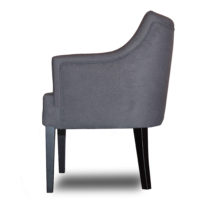 Тёмно-серое кресло Sonata-Pro Giuseppe right в Петропавловске вид сбоку