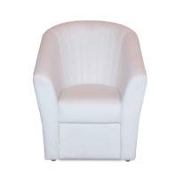Белое кресло Sonata-Pro Alba в Петропавловске вид прямо