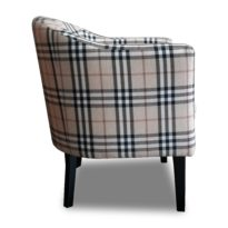 Бежевое кресло Sonata-Pro Lal Group в Петропавловске вид сбоку