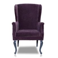 Фиолетовое кресло Amante classic в Петропавловске вид прямо