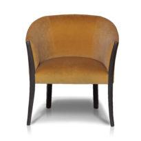 Коричневое кресло Sonata-Pro Effe в Петропавловске вид прямо