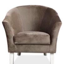 Коричневое кресло Sonata-Pro Yonca в Петропавловске вид прямо