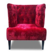 Красное кресло Sonata-Pro Arnold в Петропавловске вид прямо