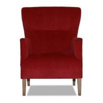 Красное кресло Sonata-Pro Bella в Петропавловске вид прямо