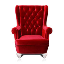 Красное кресло Sonata-Pro Dolce в Петропавловске вид прямо