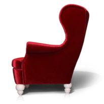 Красное кресло Sonata-Pro Dolce в Петропавловске вид сбоку