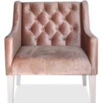 Розовое кресло Sonata-Pro Domingo в Петропавловске вид прямо