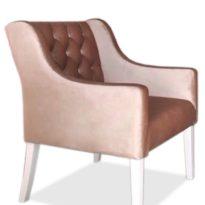 Розовое кресло Sonata-Pro Domingo в Петропавловске вид сбоку