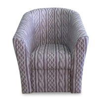 Серое кресло Sonata-Pro Alba в Петропавловске вид прямо