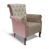 Серое кресло Sonata-Pro Immenso в Петропавловске вид сбоку