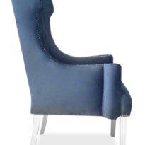 Синее кресло Sonata-Pro Abram в Петропавловске вид сбоку