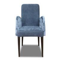 Синее кресло Sonata-Pro Sarmasik в Петропавловске вид прямо