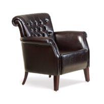 Тёмно-коричневое кресло Sonata-Pro Stil Kapitone в Петропавловске