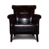 Тёмно-коричневое кресло Sonata-Pro Stil в Петропавловске вид прямо