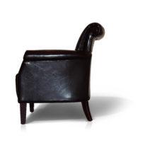 Тёмно-коричневое кресло Sonata-Pro Stil в Петропавловске вид сбоку