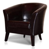 Тёмно-коричневое кресло Sonata-Pro Yonca в Петропавловске