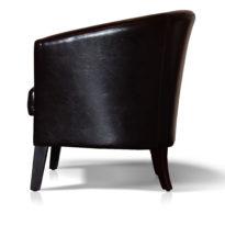 Тёмно-коричневое кресло Sonata-Pro Yonca в Петропавловске вид сбоку