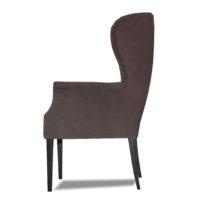Тёмно-серое кресло Amante classic в Петропавловске вид сбоку