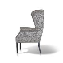 Тёмно-серое с серым кресло Sonata-Pro Amelia в Петропавловске вид сбоку