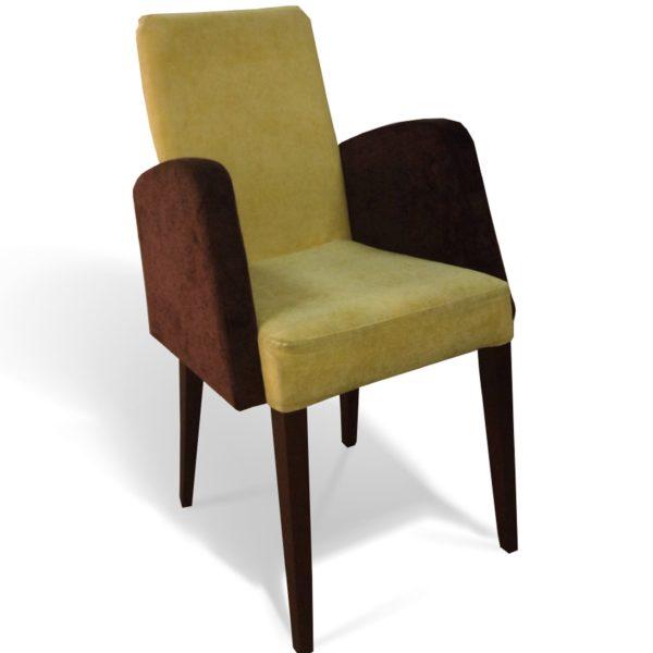 Жёлто-коричневое кресло Sonata-Pro Sarmasik в Петропавловске вид прямо