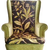 Зелёно-чёрное кресло Sonata-Pro Fedele в Петропавловске вид прямо