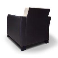 Чёрно-бежевое кресло Sonata-Pro Henry в Петропавловске вид сзади