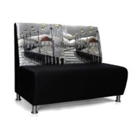 Чёрно-серый диван Sonata-Pro Matteo в Петропавловске