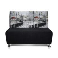 Чёрно-серый диван Sonata-Pro Matteo в Петропавловске вид прямо