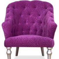 Фиолетовое кресло Sonata-Pro Satin в Петропавловске вид прямо