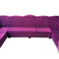 Фиолетовый П-образный диван Sonata-Pro Ego в Петропавловске