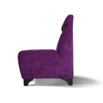 Фиолетовый диван Sonata-Pro Pietro в Петропавловске вид сбоку