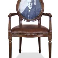 Коричневое кресло Sonata-Pro Piere в Петропавловске вид прямо