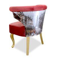 Красное кресло Sonata-Pro Loft Classic в Петропавловске вид сзади